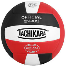 Tachikara SV18S Composite Leather Volleyball (Red White and Black)