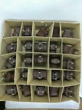 25-PK In Box NEW Eagle BROWN Single Rubber Cube Tap 184 NOS plug