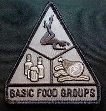 BASIC FOOD GROUPS USA ARMY MORALE ISAF MILITARY BADGE SWAT HOOK & LOOP PATCH