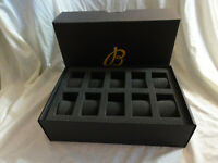 Breitling Swiss Watch Company Multi Watch Storage Box with Foam ~ 10 Watches