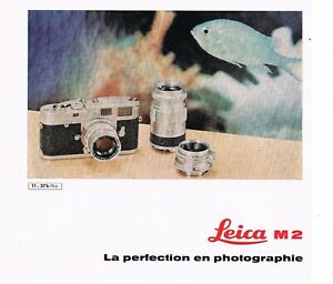 LEICA M2 prospectus/leaflet/Prospekt   - 6 pages / Seiten  - 1961