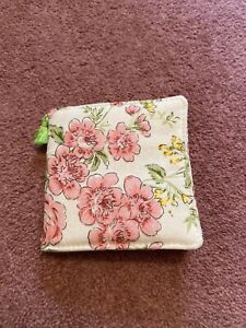 Handmade Floral Flowers Pink Cotton Needle Case Gift Sewing Craft