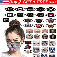 US 3D-Print Funny FaceMask Protective Covering Washable-Reusable Adult Unisex.