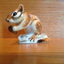 Collectible Goebel Hummel Artist Signed Hand Painted Porcelain Chipmunk
