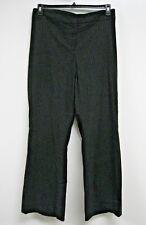 Pants 28 Tall Plus Lane Bryant $60 NWT Black Silver Vertical Stripes Formal J290