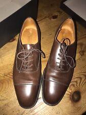 J.M. Weston Women's US 7 UK 5 Leather Cap Toe Cognac Suede Dress Shoes France