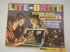 "Vintage Lite Brite Refill Papers 9 x 12""  Pictures and Blank sheets Box"