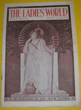 The Ladies World Magazine July 1903 Miss Liberty Great Color Cover! Nice SEE!