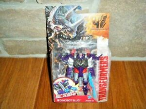 TRANSFORMERS 4 AGE OF EXTINCTION AUTOBOT DINOBOT SLUG SMASH & SLASH FIGURE MOC!!