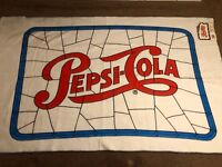 "Vintage Pepsi Cola Blanket 45"" X 72"" 1970s Original Tags Single Dot Logo Rare"