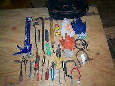 Lot Of 52 Misc. Construction Tools With Tote Bag, Used