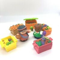 Fisher Price Little People Fruit and Vegetable Stall with 2 x Figures