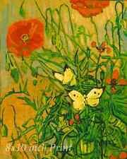 Red Black Flowers Bloom 8x10 Print 1818 Garden Poppies by Mildred Anne Butler
