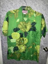 Waltah Clarke'S Vintage Mens Green Hawaiian Shirt Size Large
