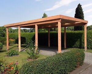 Carport 4x6 m Lärche inkl. Dach und Anker, ca. 410x600 cm DIREKT VOM HERSTELLER!