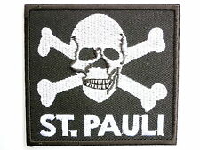 ST PAULI Skull Punk Skins Ultras Iron On Embroidered Shirt Applique Badge Patch