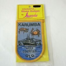 KARUMBA GULF COUNTRY QLD Australia Vintage Sew On Woven Collectable Patch Badge