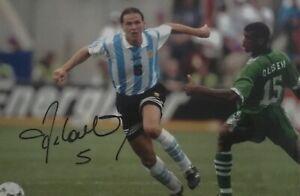 Fernando Redondo signed Argentina Image B 12x8 photo UACC dealer AFTAL RACC