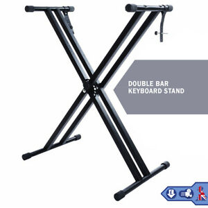 Electronic Piano Double X Stand Music Keyboard Standard Rack Adjustables Height