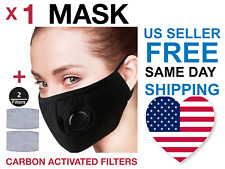 reusable cotton face mask air purifying valve 2Pm2.5 Carbon Filter Fast Delivery