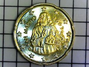 SAN MARINO 20 Cent €uro 2003 BU (RARE) - SPL++