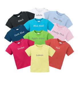 Baby T-Shirt in verschiedenen Farben 100% BIO Baumwolle