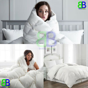 10.5 Tog Hotel UK Quality Duck / Goose Feather & Down Duvet Quilt / Pillow Pair