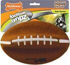 Nylabone Power Play Dog Felt Football Gripz Grips 8.5 Inch Super Squeaky Ball