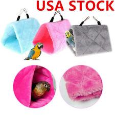 US Pet Bird Parrot Hammock Parakeet Budgie Cage Hut Tent Bed Hanging Cave Toy
