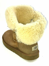 Ugg Australia Short Bailey Button Bomber Chestnut Shearling Womens Size 10 USA