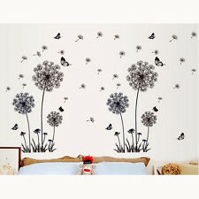 Dandelion Removable Vinyl Decal Fly Wall Sticker Art Mural Home Room Decor AU