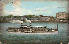 Biebrich Wiesbaden Dampfer, Hotel Nassau-Krone und Kaiserhof 1907