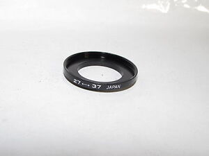Used 27 - 37mm Adapter Ring Step Up from 27mm to 37mm for lens filter O40518