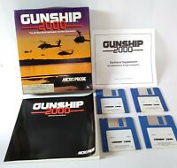 "Gunship 2000 Amiga 1992 Vintage PC Game 3.5"" Floppy Disc UNTESTED"