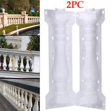 2 Pcs Moulds Balustrades Mold for Concrete Plaster Cement Plastic Casting New