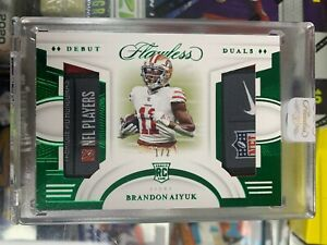 2020 Flawless Brandon Aiyuk Duals RC Rookie Laundry Tag Patch Jersey 1/2 SJ