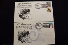 DRW NAVAL COVER #305-05A SET/2 45TH ANNIV COMMISSIONING USS NAUTILUS (SSN-571)