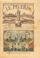 Treaty of Portsmouth Rosen,Komura,Takahira Russo-Japanese War 1905 ILLUSTRATION