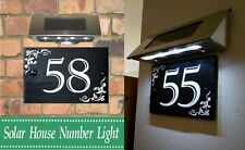 SOLAR LIGHT FOR HOUSE GATE SIGN-ADDRESS- PLAQUE DOOR NAME/ NUMBER SIGN 1-999