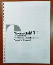 Nakamichi MR-1 Professional Cassette Deck Owners Manual