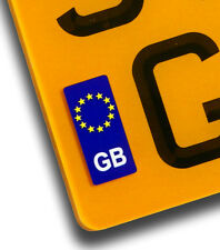 GB Euro Vinyl Sticker For Motorcycle Number Plate European Travel Identifier EU