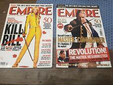 Empire Magazine Nov + December 2003 Kill Bill master and commander the matrix