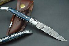 Laguiole Style Taschenmesser Damastmesser Jagdmesser Handarbeit Damast-Stahl #25