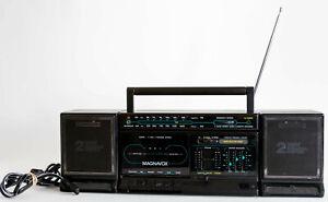 Vtg Magnavox D8270 AM/FM Radio Stereo Cassette Recording Player Boombox Works