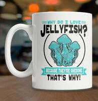 I Love Jellyfish Mug Cute Jellyfish Mug Jellyfish Coffee Mug Jellyfish Lover Mug