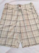 Men's American Eagle Plain Front Longer Length Plaid Shorts Size 32