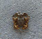 VTG Navy Officer Pin Badge WWII 10k Gold Filled Sterling Vanguard NY Military