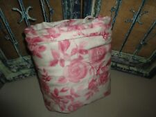 IKEA EMELINA ROS VINTAGE PINK FLORAL ROSES FULL /QUEEN DUVET COMFORTER 84 X 84