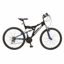 "Muddyfox Recoil 26 inch Mens Mountain Bike, Black/Blue 26"", 18"" Frame, 18 Speed"