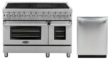 """Cosmo Kitchen Appliance Package 48"""" Dual Fuel Range and 24"""" Dishwasher"""